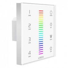 EX sarja - LED RGBW säädin lasipaneeli EX8 - pyöreä upotus - F4-5A vastaanottimelle
