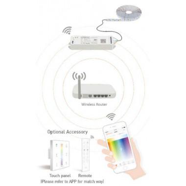 Wifi 2versio Langaton himmennin - kännykällä ja kaukosäätimillä ohjattavissa - värilämpötilan säätö - RGBW moniväri