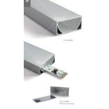 """Profiili - 80 mm leveä malli - 1 metri - """"led spot free"""""""