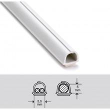 Kaapelikouru - 5.5x5mm -Valkoinen - Taipuisa