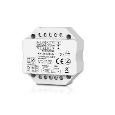 LED vastaanotin VX sarja seinän sisään + push DIM + Tukee himmennys/värisävy/RGBW