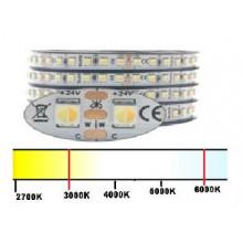 CCT Värilämpötila säädettävä - LED-nauha 24V/18W - 1500lumen - UUSI 3838LED - 3000K-6000K värilämpötila säädettävä