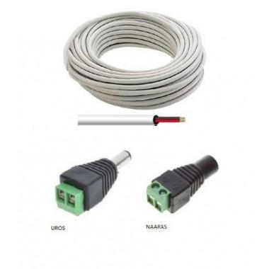 Lisätarvikkeet : LED virtalähteen jatkojohto (haluttu pituus)